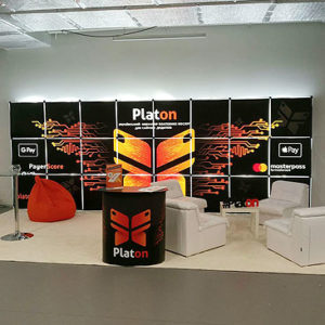 "Светящийся стенд ""Platon"" (GS Pop-up)"